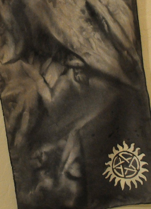Supernatural Silk Scarf Custom Made W Anti Possession Or