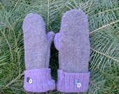 Upcycled Wool Mittens: Child Size
