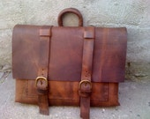 Hand Stitched Leather Messenger Bag, Mens Messenger Bag, Leather Accessories For Men and Women