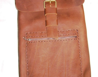 Brown Leather backpack,Soft Leather Backpack For Men And Women Made In NYC