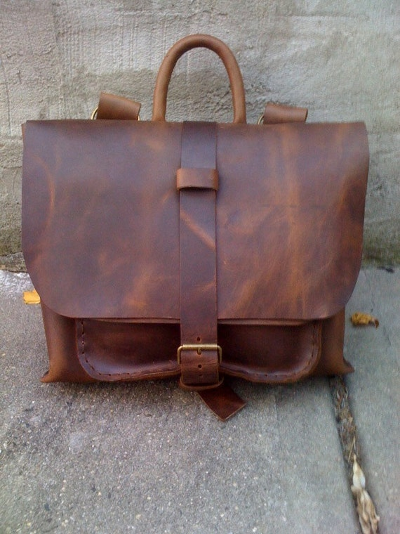 Leather bag-luxurious satchel -professional handcrafted bag made in NYC