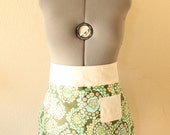 Half Circle Apron With Wide Band