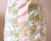 Quilted Half Apron With Long, Thick Ties
