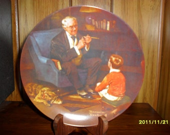 """Norman Rockwell's """" The Tycoon"""" Collector Plate"""