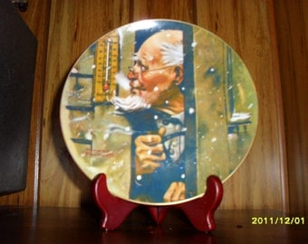 Old Man Winter Collector Plate