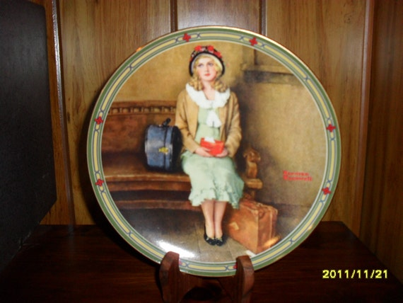 "Norman Rockwell's "" A Young Girl's Dream"" Collector Plate"
