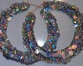 Sequin bamboo earrings