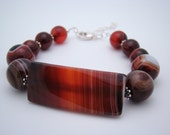 Agate and Sterling Silver Gemstone Bracelet