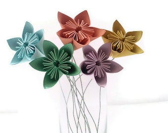 Set of 5 with Free Domestic U.S. Ship - Kusudama Paper Origami Flower