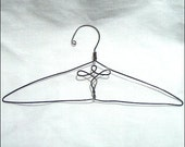 "Fancy 18"" Doll Clothes Hanger with Scroll center design-Set of 4 Silver tone"