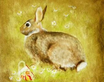 Summer Rabbit An original oil painting