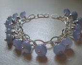 Blue Chalcedony bead bracelet