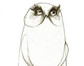 Owl Print Beach Pants A5 Sepia