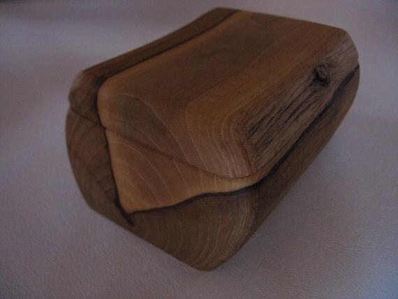 Rescued Pecan natural keepsake or jewelry box