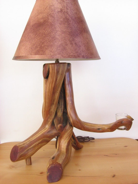 Rocky Mt. Juniper Lamp with Votive Candle Holder