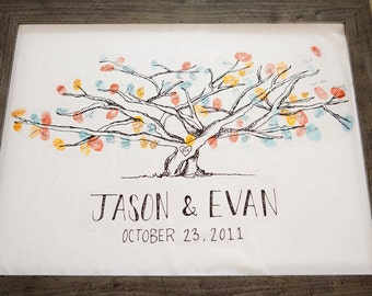 "Custom ""Leaf Your Fingerprint"" Tree Sign-in for Wedding/Special Event"