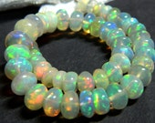 AAA. Quality Natural Ethiopian Welo Fire Opal Smooth Beads,Fire Opal, Size of 4mm to 7mm Approx.Extreme Insane Fire