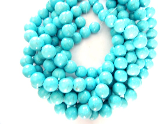 AAA.Quality Chinese Turquoise Smooth Roundel Beads Size--14mm Approx.