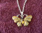 Beautiful Vintage butterfly necklace