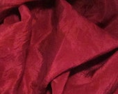 "Burgundy Rose Silk Tarot Cloth - Altar Cloth - Hand Dyed 30""x30""...100% Silk"