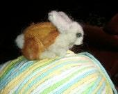 Tiny Bunny Needle Felt