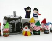 Snow White and the Seven Dwarves Felt Finger Puppet Set