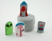 Space Set Felt Finger Puppet Set