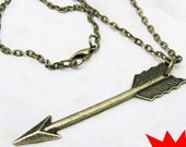 The Hunger Games Inspired Arrow great  necklace-----SALE