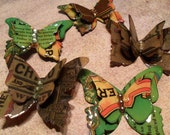 Upcycled Sierra Nevada Butterfly Brooch/Hair Clip... Your choice...Celebration Ale, Old Chico, Pale Ale, Torpedo
