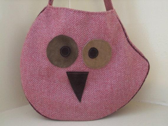Medium Owl bag Tote / Messenger /