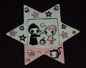 Tokidoki Adios and Cioa Cioa Painting on a Wodden Star