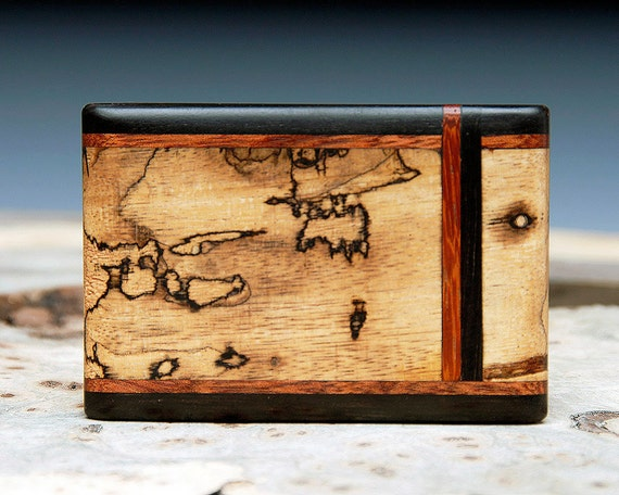 Exotic Wood Inlaid Belt Buckle - Handmade
