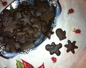 1/2 pound Mini Holiday Gingerbread Cookies