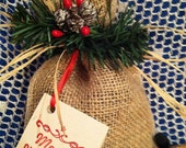 Bag of Coal Christmas Gag Gift - Burlap