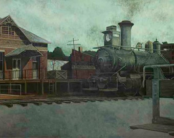 Pennsylvania Railroad Station Print