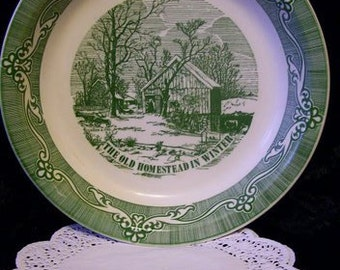 Currier & Ives Pie Plate