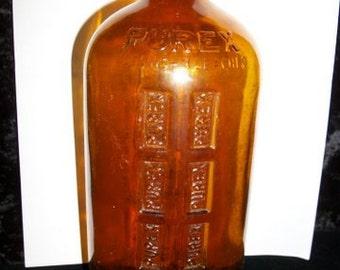 Purex Bottle in Amber Glass