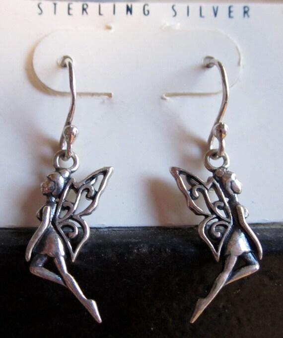 SALE Fairy earrings in sterling silver