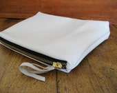 Cream Leather Pouch