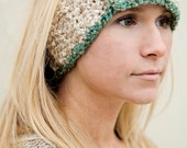 Digital Download of Quick and Easy CROCHET PATTERN Headband with Contrasting Trim and Button closure
