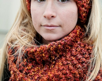 Digital Download of our Quick and Easy Infinity Scarf KNITTING Pattern immediate download of our Chicago Infinity Scarf