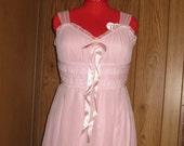 Vintage Nightgown Sleepwear Negligee Soft Pink 1960s Size Small / Medium Women's Clothing