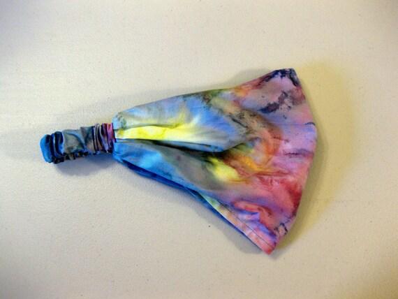 Headband Head Wrap Dreadband Womens Bandana Rainbow Tie Dye Print