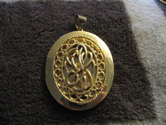 Vintage monogrammed locket