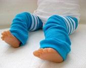 Blue Stripe Rugby Children's Leg Warmers