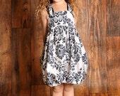 Children corset dress Classical back & white-- Beautiful summer dress, formal dress --Children dress Girls dress