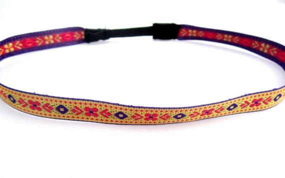 Gold Headband,Floral Tribal Headband, aztec headband, chevron headband, arrow headband, pink headband, purple headband, gold headband
