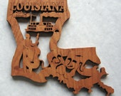 Louisiana State Decorative Wall Hanging, Trivet, Unique Gift