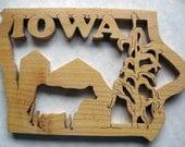 Iowa State Decoratve Wall Hanging, Trivet, Unique Gift
