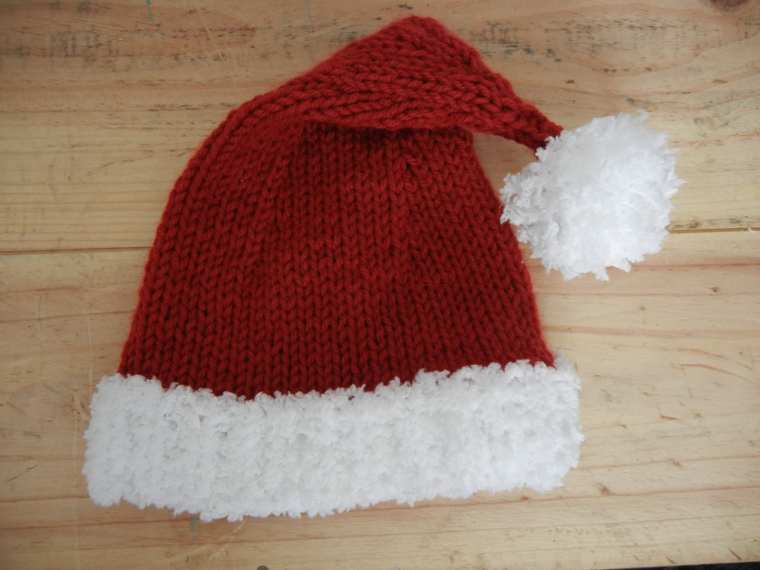 Santa Hat Knitting Pattern baby child adult by PatternsForDelia